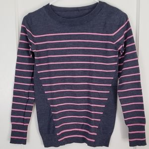 Tops - (Unbranded) Pink stripes and Gray sweatshirt